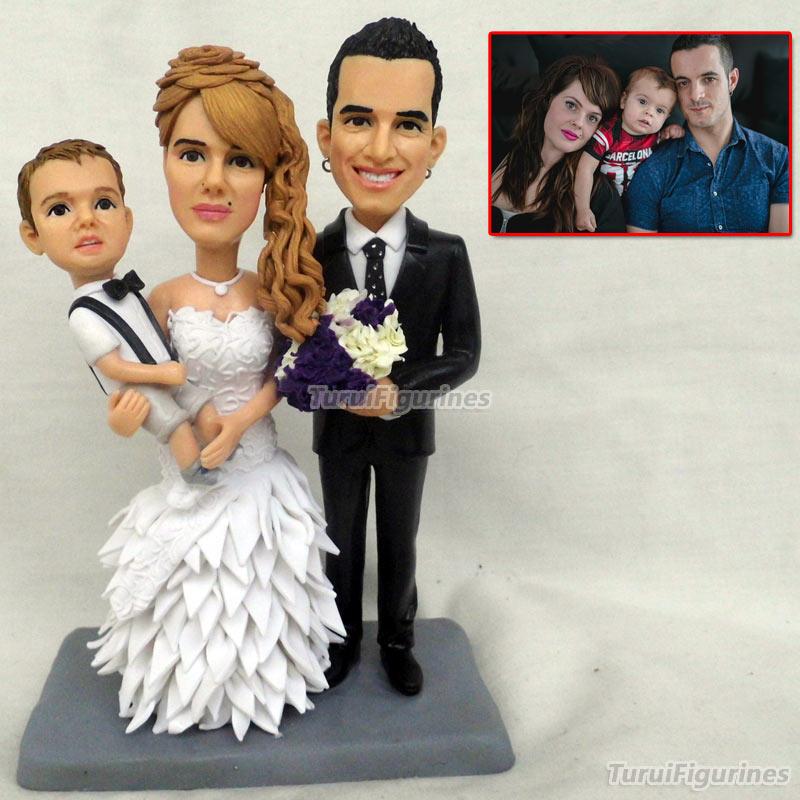 Свадебный торт Топпер фигурки персонализированные с питомцем собаки и невесты цветы свадебные подарки для невесты, жениха подарок подруге подарки - 5