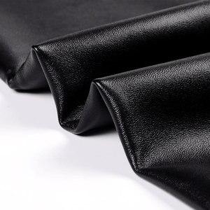 Image 5 - CHRLEISURE الشتاء سروال ضيق من الجلد النساء عالية الخصر الدافئة الأسود Leggins الشرير رفع طماق سميكة المخملية الصلبة يغطي الرجل S 5XL