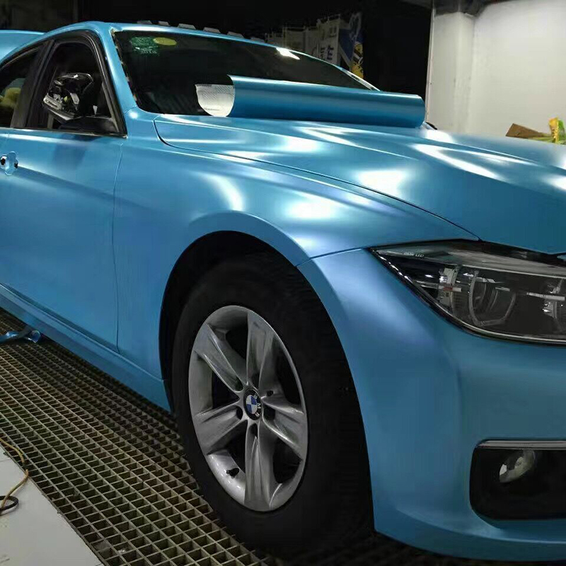 Premium Quality Electro optic Metallic Film vinilo coche automotive vinyl wrap with Air Bubble 1.52x18m/roll  Sky Blue|  - title=