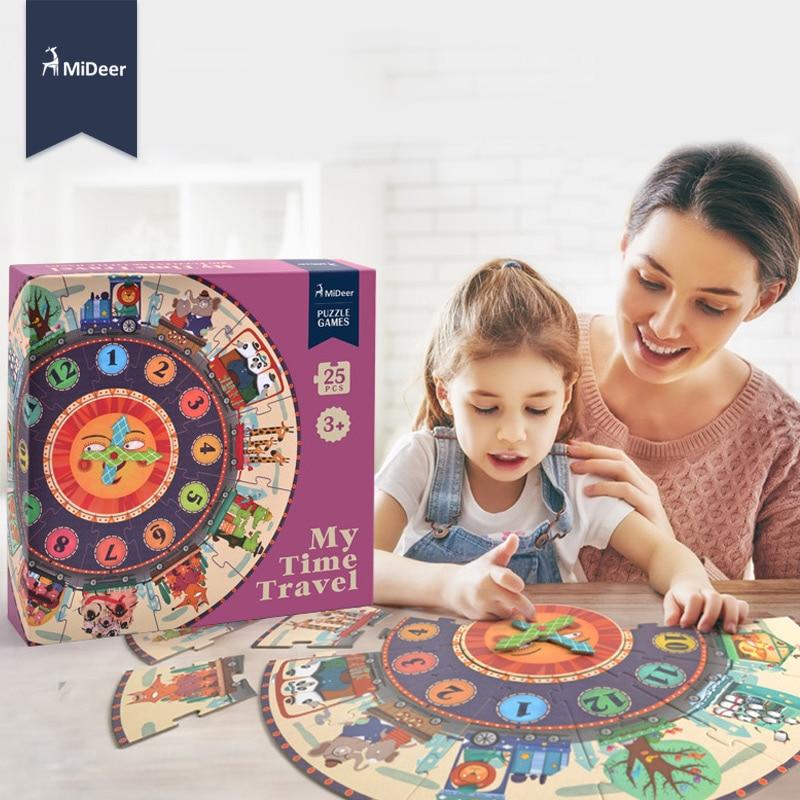 Mideer mój czas podróży Puzzle dla dzieci zabawki edukacyjne wczesna edukacja dla dzieci dzieci prezent urodzinowy