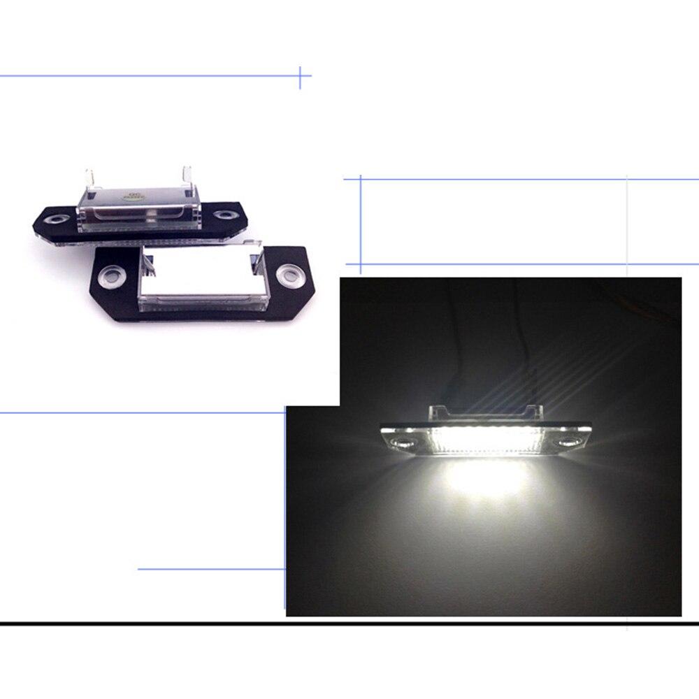 2Pcs LED License Number Plate Light Lamp Fits For Ford Focus C-MAX MK2 03-08 Set