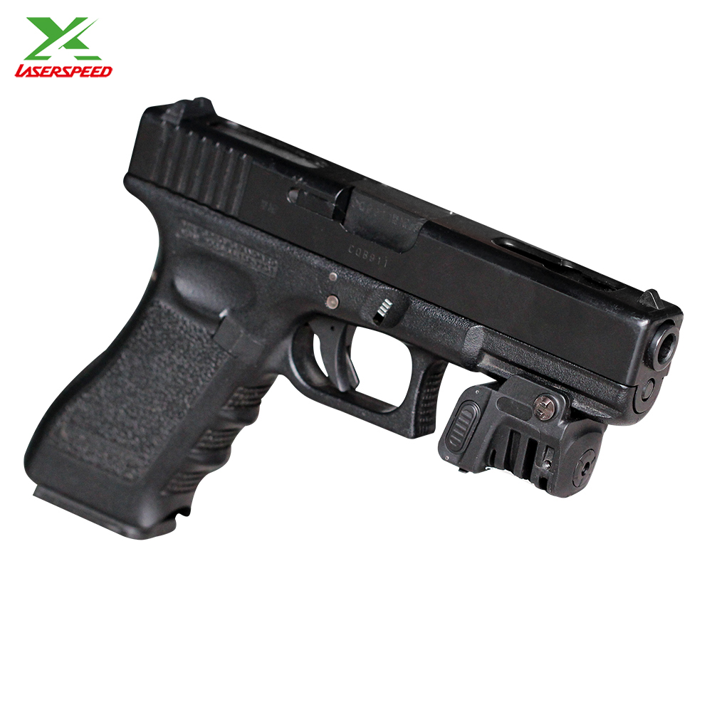 Drop shipping Laserspeed adjustable self defense tactical mini rail mounted pistol red aiming rechargeable laser sight