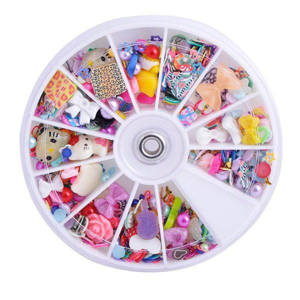 High Quality Nail Art Decoration DIY Crafts Colorful Patches With Different Shaps Makeup Accessories Nail Stud Toos