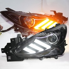 LED Head Lamps  For Mustang style For MAZDA 3 Axela2013-2015 year  LD