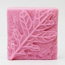 Leaf silicone soap mold cake decoration food grade making