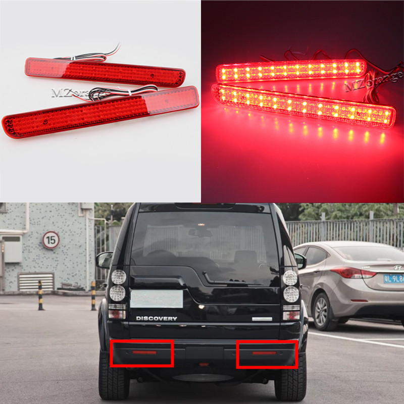MZORANGE 2Pcs 12V LED For Range Rover Sport L320 For Discovery 3 4 Tail Light Rear Bumper Reflector Brake Light Red Stop Light for land rover range rover sport freelander 2 discovery 4 2006 2014 car styling led fog lights lamp crystal blue blue 12v
