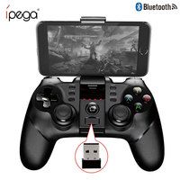 Original IPEGA 9076 Bluetooth Wireless Gamepad Gaming Handle 2.4G Receiver Game Console Joystick for iPhone 6s 7 plus Huawei PS3