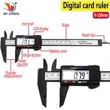 0 100Mm 0 150Mm Kẹp Phanh 6 Pollici LCD Elettronico Digitale Compasso Một Nonio Micrometro Strumento Di misura