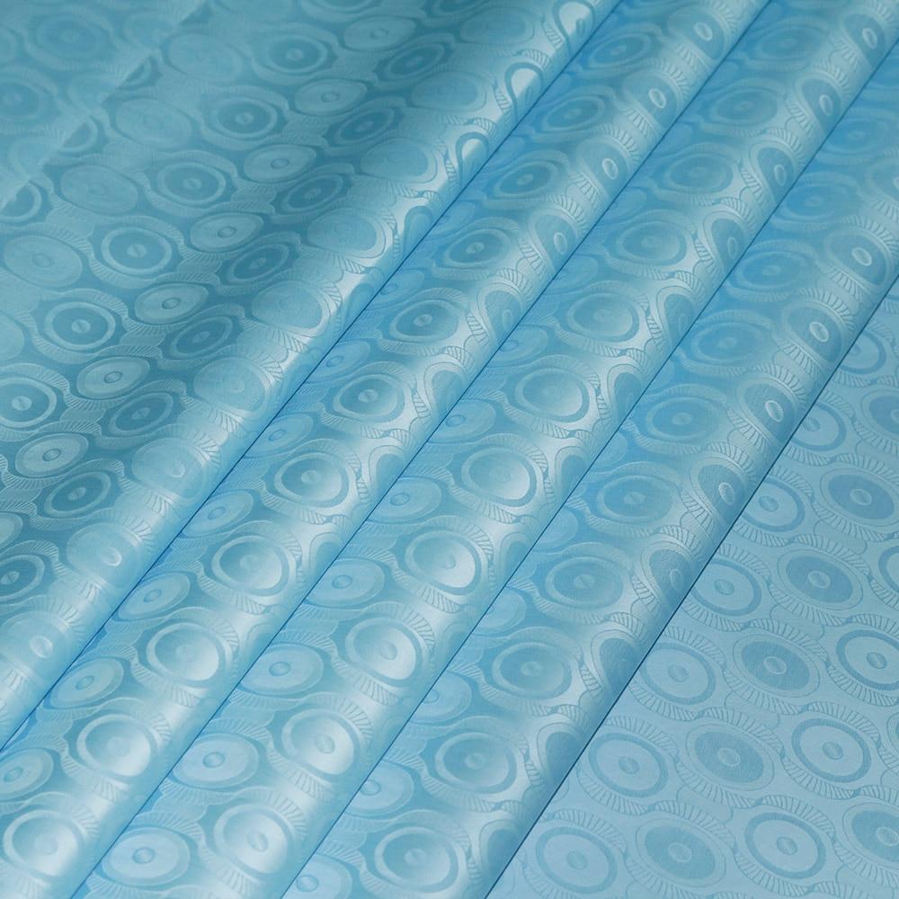 Bazin Riche Similar To Getzner Latest Sky Blue African 2019 Guinea Brocade Fabric Bazin Riche Fabric Bazin Brode Lace 5Meters/Pc