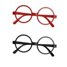 Детские круглые очки в черной или Красной оправе, рождественский подарок