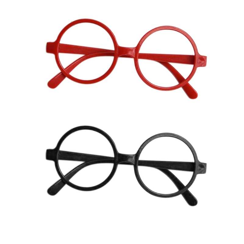 Childrens Kids Round Shape Black Or Red Frame Glasses Christmas Gift