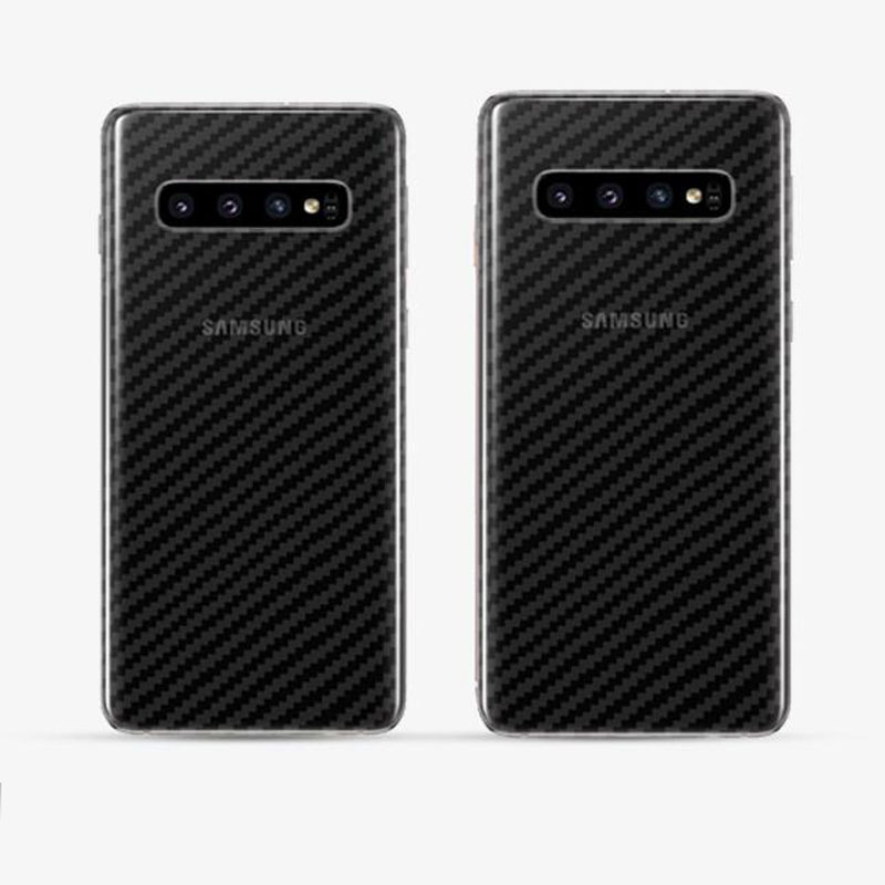 Carbon Fiber Screen Protector Film Protective Film Clear <font><b>Sticker</b></font> for Samsung Galaxy <font><b>S10</b></font> Plus S10E Rear Back Glass Panel Cover image