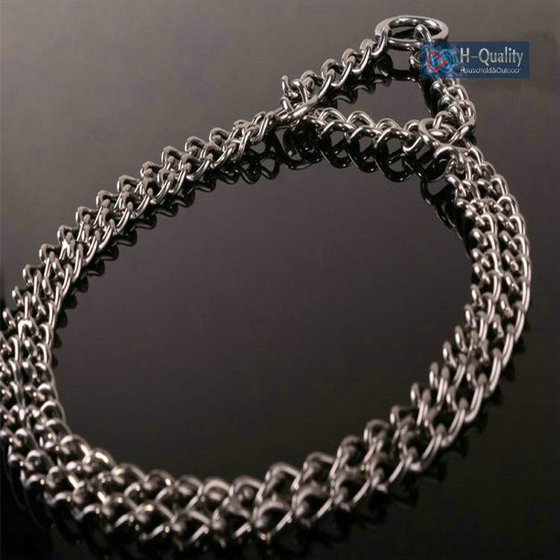 3.0MM Wire Dia 60 70CM Range Argon Welded Stainless Steel Seamless Duplex Chain Dog Collar With Three Times Strength