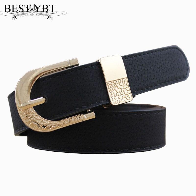 Best YBT Women Belt Imitation Leather Alloy Pin Buckle Belt High Quality Ladies With Wide Jean Trousers Decorative Women Belt