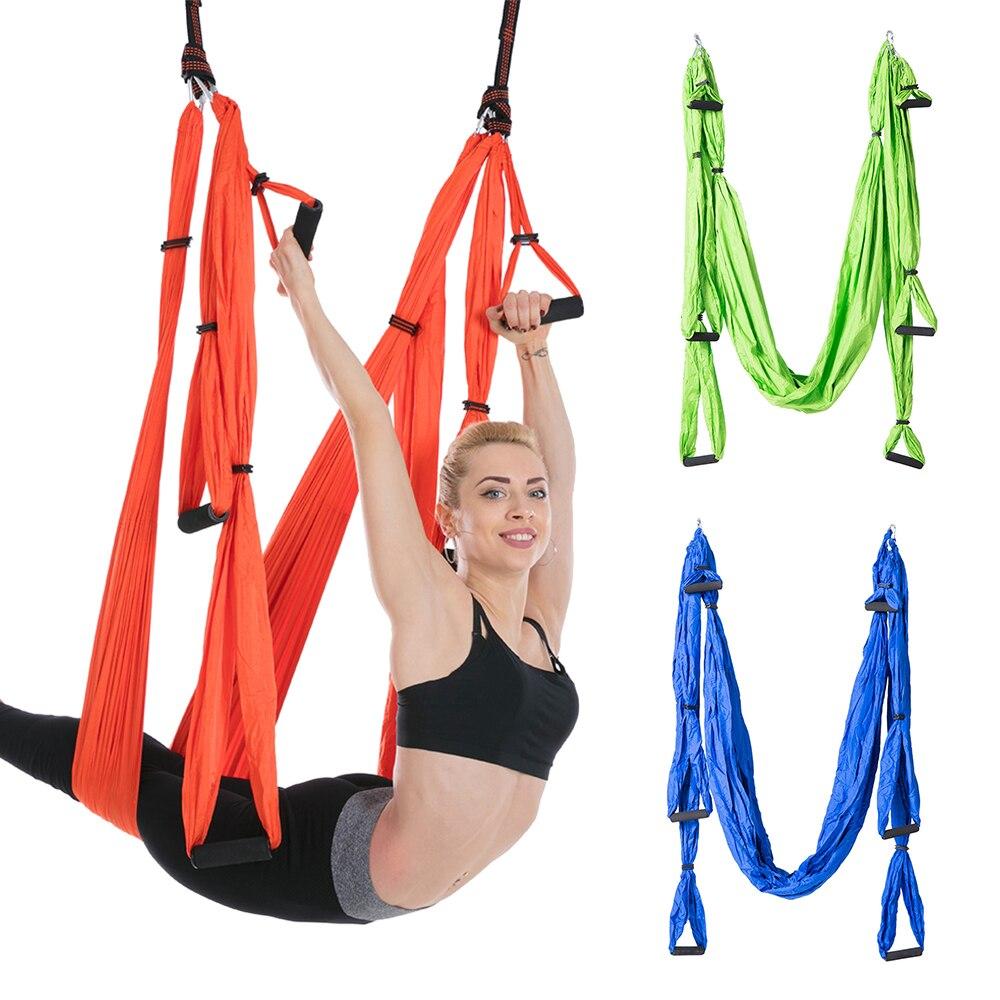 Yoga hamac aérien Yoga trapèze Inversion entraînement élingue Anti gravité exercice entraînement Yoga balançoire Extension sangle