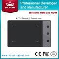 """Nueva H420 HUION 4 """" x 2.23 """" firma profesional tabletas gráficas Digital Tablets USB arte tabletas de dibujo negro"""