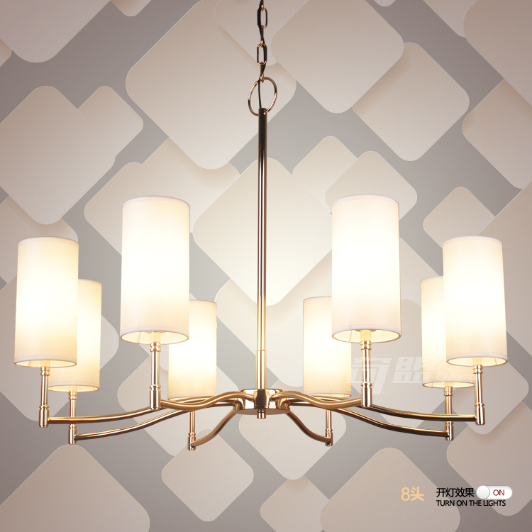 Mehrere Kronleuchter Amerikanischen Lichter Silber Vergoldet Gerade Tuch Abdecken Wohnzimmer Esszimmer Lampen