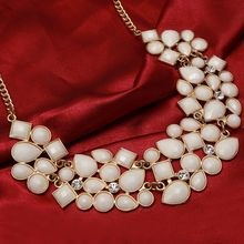 Gem Statement Necklaces & Pendants Vintage Gold Silver Plated Chain Choker Collier Bijoux Femme Maxi For Women Collars Colar(China)