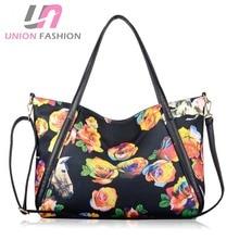 Europäischen Stil Mode Frauen Handtasche mit Strap Rose floral Druck Umhängetasche hohe Qualität Tote Taschen Umhängetasche