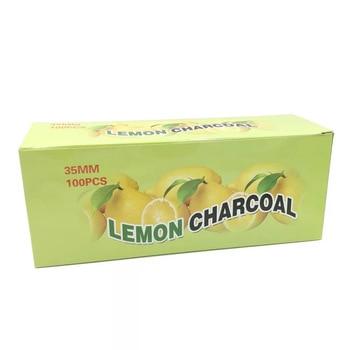 100pcs Natural Hookah Flavor Lemon Charcoal Shisha Quick-lighting Burn Even Lasting Long Flavored Charcoal Shisha Accessories