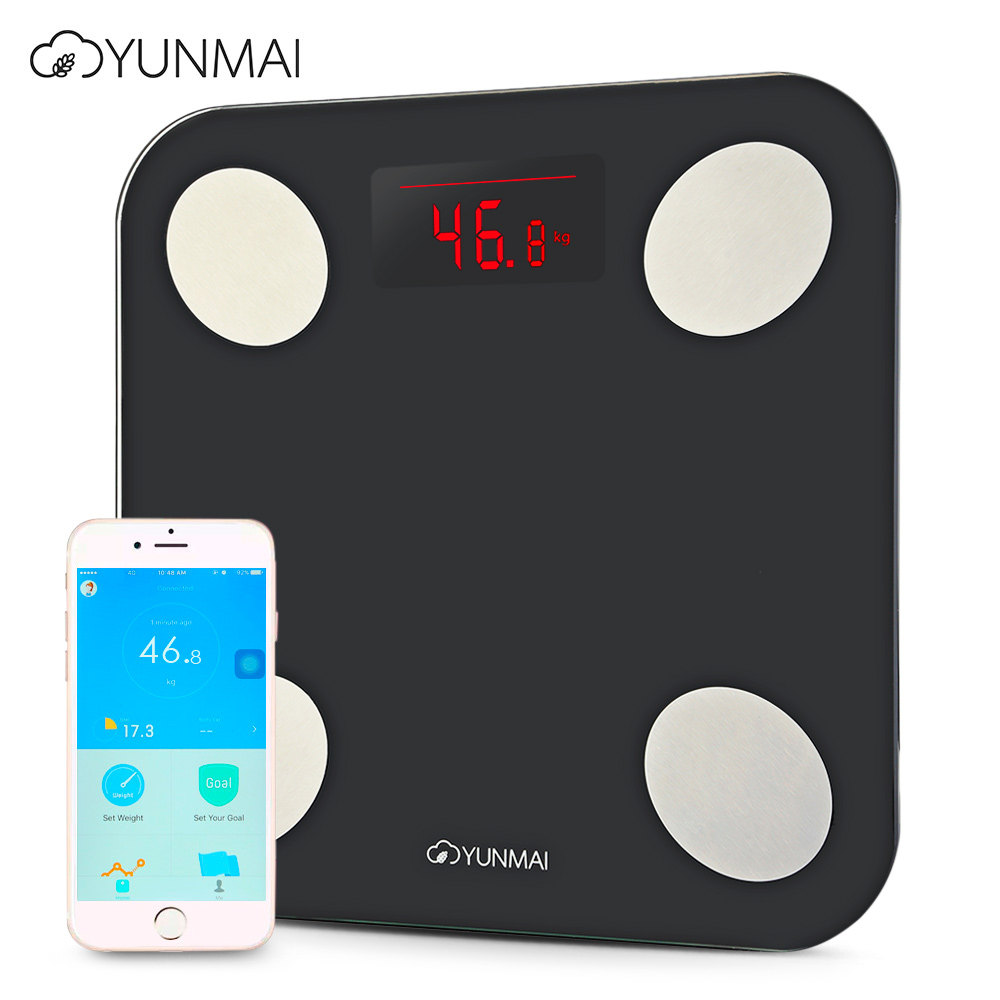 100%Original YUNMAI Mini2 Balance Smart Body Fat Scales Electronic LCD Digital Weight Scale With App Control 2.92 Inch Scales 500g 0 5g lab balance pallet balance plate rack scales mechanical scales students scales for pharmaceuticals with weights