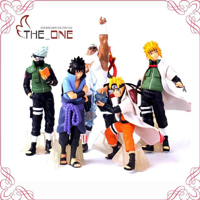 Naruto Sasuke Kakashi 5 Pcs/Set PVC Anime Action Figure Toy