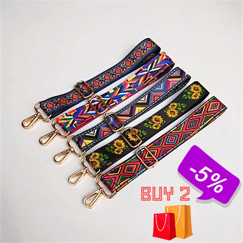 Nylon Colorful Women Shoulder Bag Strap for Crossbody Rainbow Bag Accessories Handle Handbag Purse Strap Bag Belt Bandolera W239