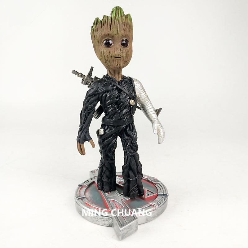 Captain America: The Winter Soldier Statue Tree Man Bust Play Arts COS Resin Action Figure Collectible Model Toy BOX D786 wwii hms surprise captain jack resin soldier bust model resin bust master and commander