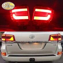 2 шт. для Toyota Land Cruiser FJ200 LC200 SNCN автомобиля светодиодный задний противотуманный фонарь заднего бампера светильник Авто Предупреждение светильник отражатель