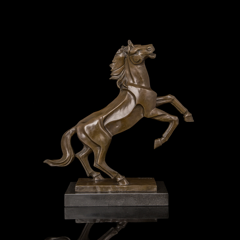 Arts Crafts Copper Abstract Horses Statue High Quality value metal sculpture Brass sculptures Horse Bronze Figurine Creative Art