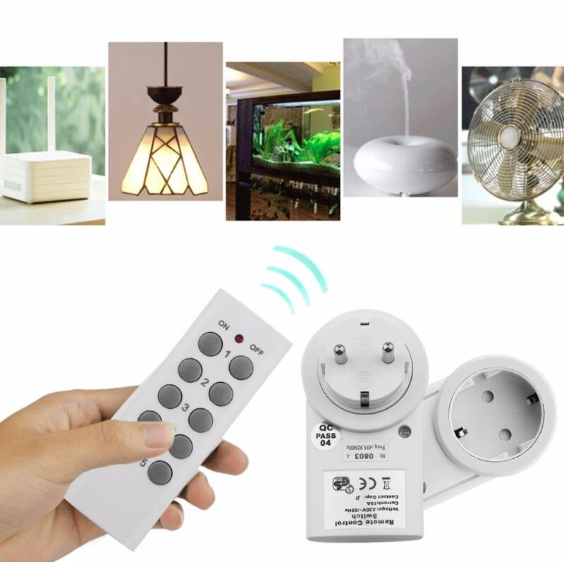 5 Wireless Power Switch Sockets 1 Remote Controller EU Plug High Performance Wireless Remote Control Power