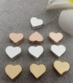 50pcs/lot alloy Metal Charms for Jewelry DIY Making silver gold heart Beads Spacer Bead for necklace
