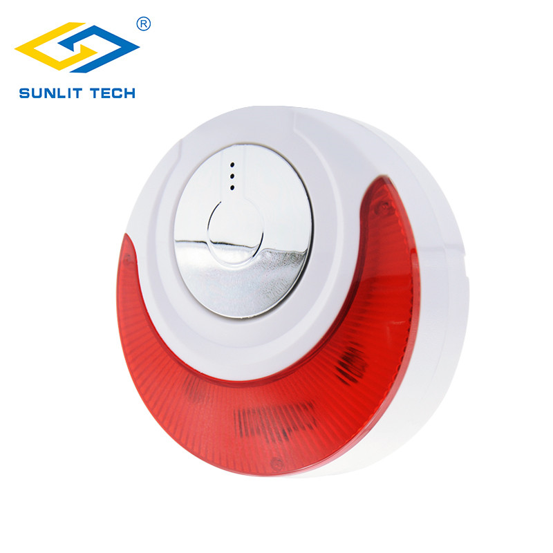 1//2/5pcs Wired Siren Indoor Sound And Flashing Light Siren MD-214 Alarm System Strobe Siren For Smart Home Security