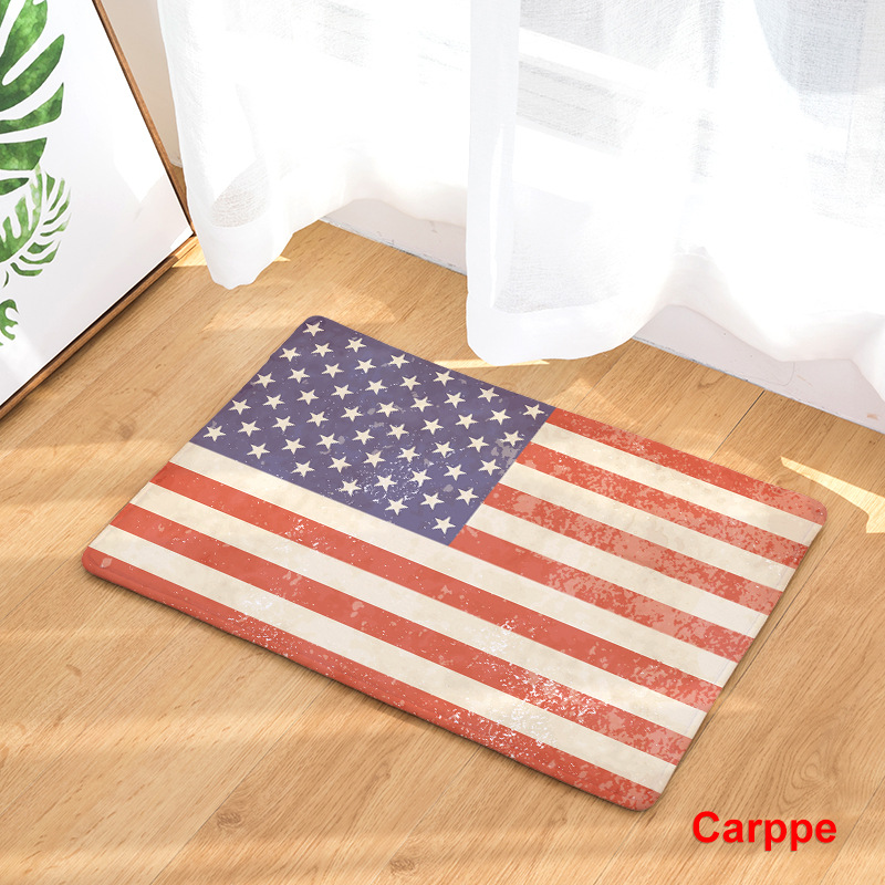Image 2 - CAMMITEVER United States England Brazil Flag Non slip Mat Foyer Foot Carpet Rug Household Kitchen Door Pad Fashion Rugs-in Rug from Home & Garden