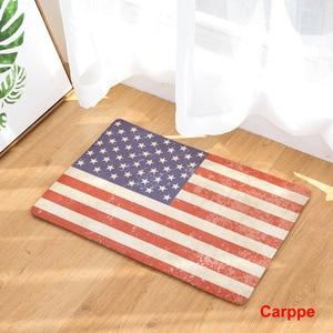 Image 2 - CAMMITEVER tapis antidérapant, pour porte de maison, pour cuisine, pour pied, drapeau américain, angleterre, brésil, à la mode