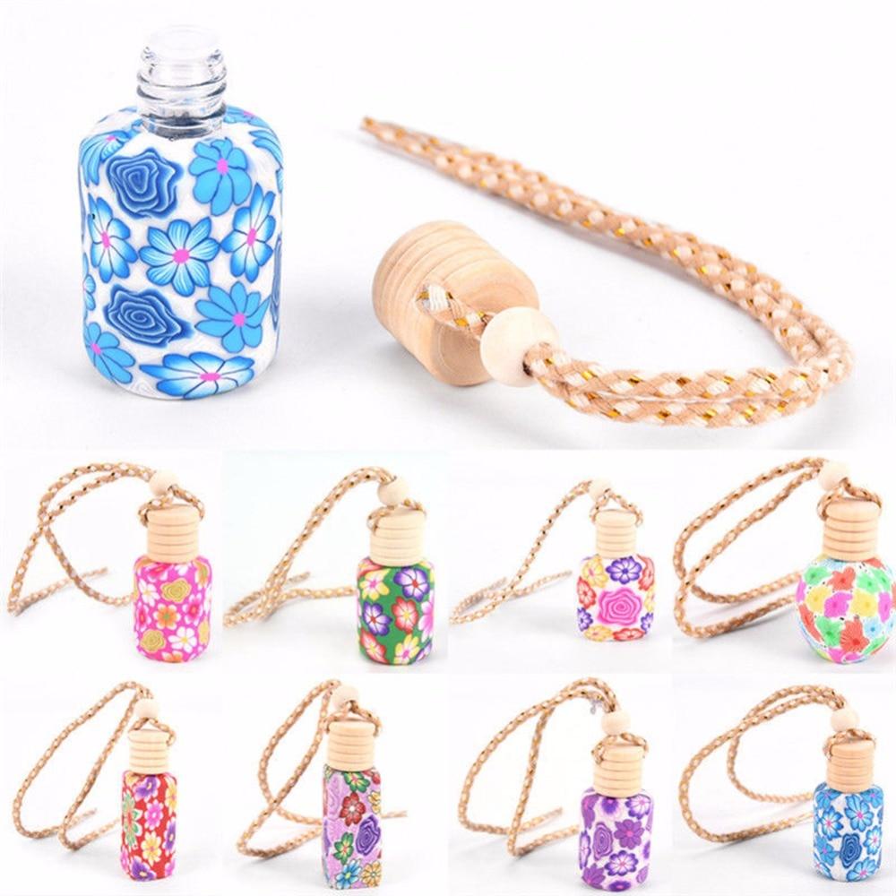 Auto Car Interior Accessories 12ml Hanging Drop Empty Bottle Car Truck Perfume Diffuser Air Freshner Fragrance Mini Ornaments
