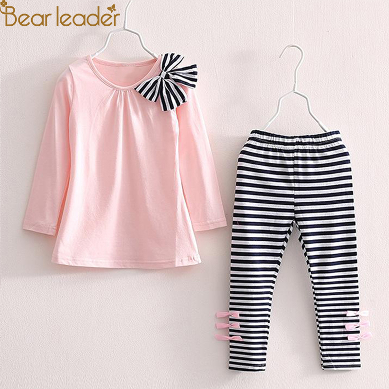 Bear Leader Girls Clothing Sets 2018 New Brand Sunmmer Kids Clothes Clothes+Pants 2Ps Baby Girls Sets For 2-7 Years bear leader girls skirt sets 2018 new autumn