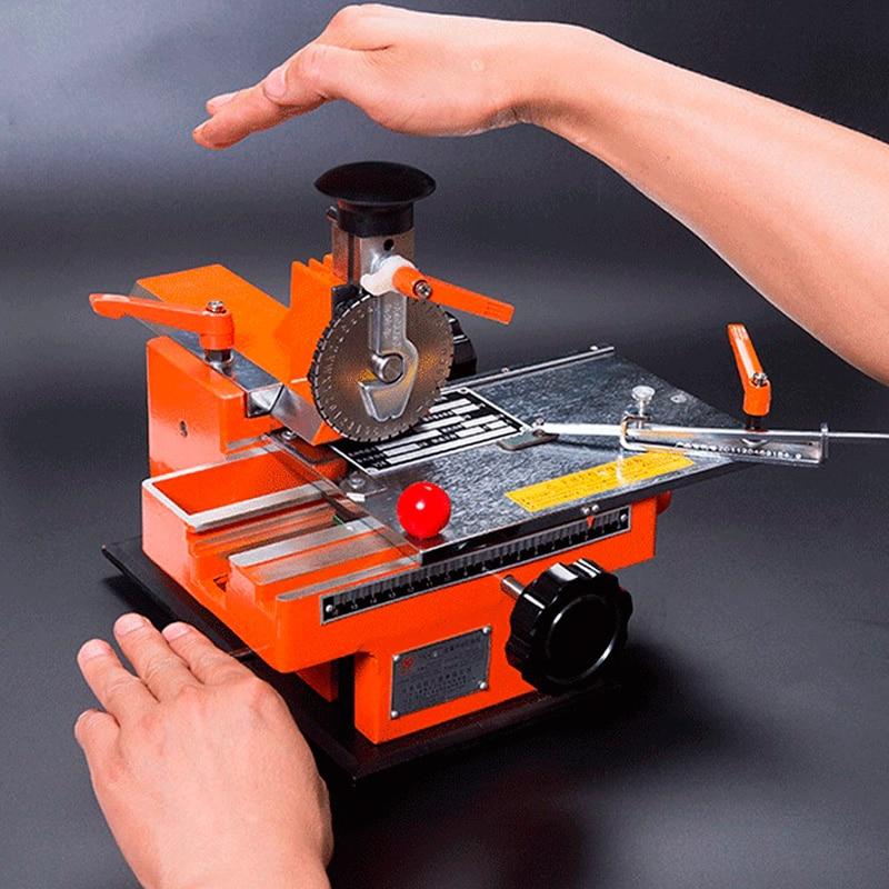 Semi Automatic Metal Name Plate Engraving Machines Nameplate Marking Machine Manual Embossing Machine Small Semi-automatic Metal