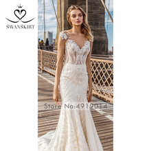 Swanskirt Wedding Dress merma robe de mariee mariage back