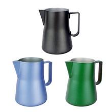 550 ml Edelstahl Schwarz Milchaufschäumung Krug Milchkännchen Espresso Krug Kaffee Latte Werkzeuge Barista Handwerk