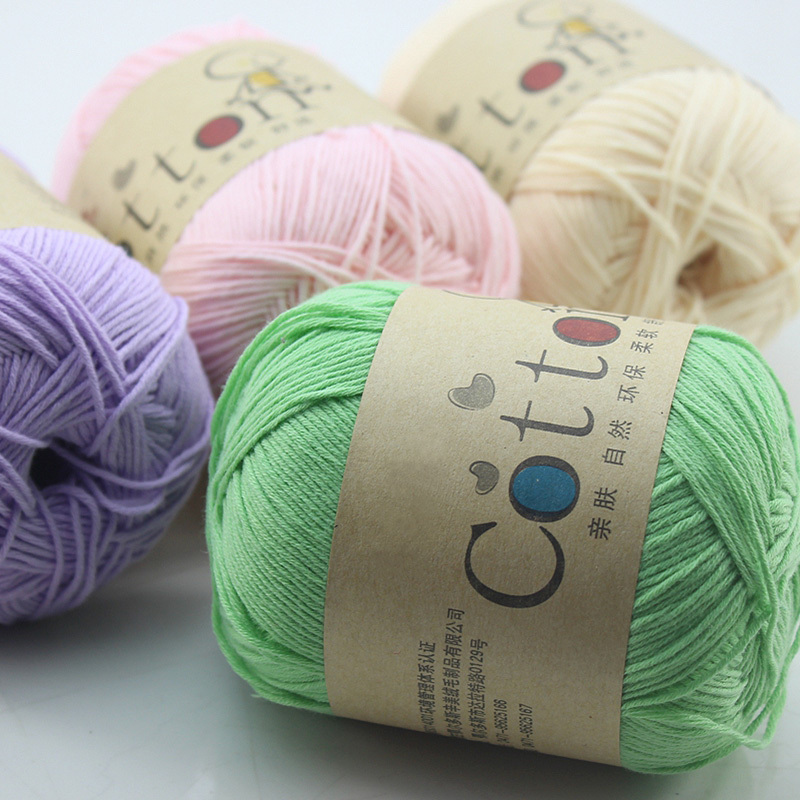 100% Cotton baby yarn for knitting baby sweaters shoes hats yarn,10 pcs/lot, 500g, Free Shipping