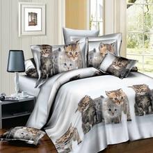 Bedding Sets 2/3pcs 3D Quilt Duvet Cover Pillow Cases Set Size Twin Queen Animal Tiger Lion Pattern bed set home Textiles