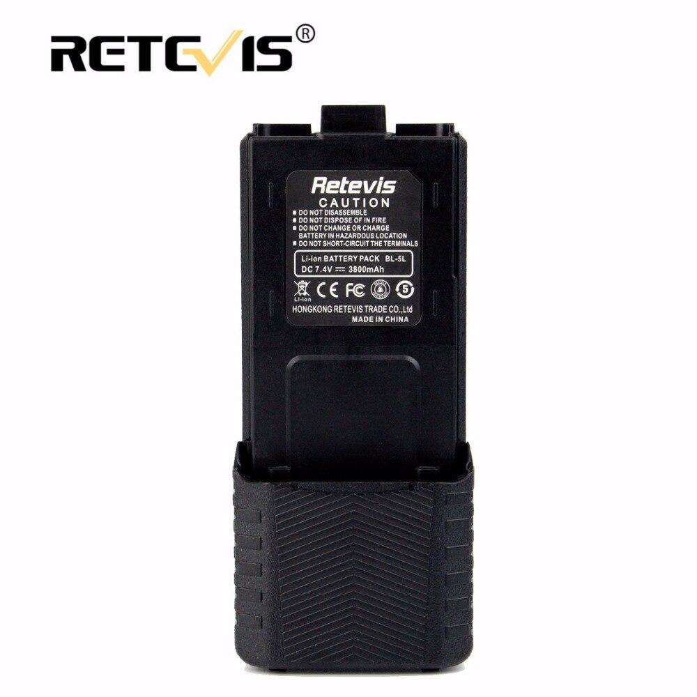 Grande capacité 2800 mah li-ion batterie bl-5l pour retevis rt5r pour baofeng uv-5r uv 5r uv-8hx pour tyt th-f8 talkie walkie batterie