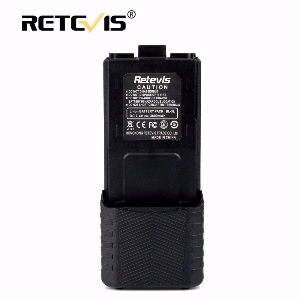 Large Capacity 2800mAh Li-ion Battery BL-5L For Retevis RT5R For Baofeng UV-5R UV 5R UV-8HX For TYT TH-F8 Walkie Talkie battery
