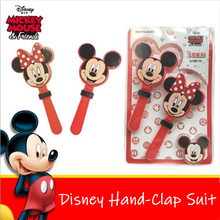 2 Pcs Disney Mickey Minnie mouse Party Celebration Hand Clapper Soccer Football Games Maker Cheering Trumpet Children Clap Toys