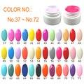 Recoger 1 unids, 5 ml Por Maceta Caramelo Pure Color UV Gel Para Uñas de Arte Manicura Padicure Belleza Para salón O En El Hogar. # A6637 ~ A6672