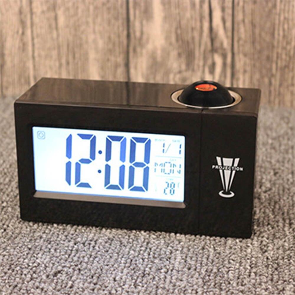 Minimalist smart alarm clock led electronic clock weather forecast projection clock snooze alarm 8 language clock in alarm clocks from home garden on