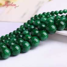 "6,8,10,12,14mm Round Candy Dark Green Smooth Jades Stone Beads Strand 15"" For Necklace Bracelets Jewelry Making,Free Shipping(China)"