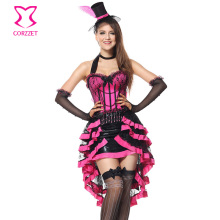 Rose Deluxe Burlesque Adult Sexy Costumes Women Cosplay Halloween Party Medieval Gothic Fancy Dress Carnival Costume Plus Size