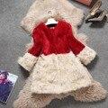 Otoño invierno 2017 nueva moda medio-largo abrigo de piel de cordero genuino de las mujeres prendas de vestir exteriores de las mujeres chaqueta de piel natural de lana envío gratis